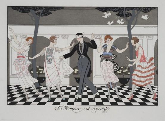 George Barbier: L'Amour est aveugle (1920)
