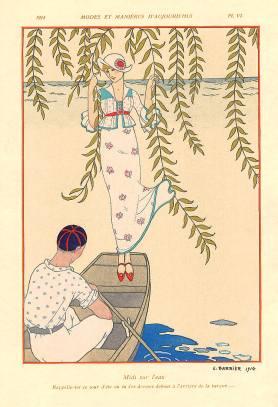 George Barbier: Midi sur l'eau (1914)